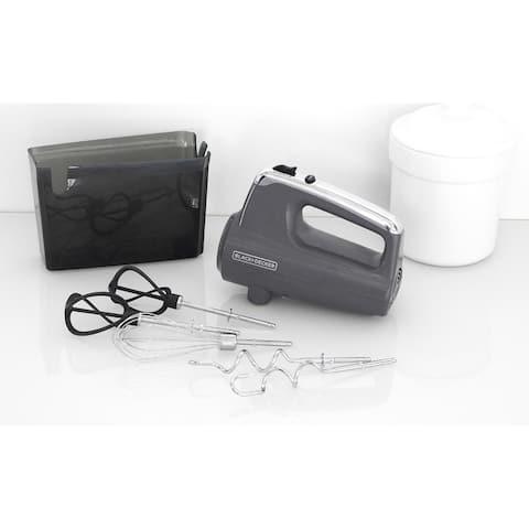 Black & Decker MX600G Helix Performance Premium Hand Mixer - Gray