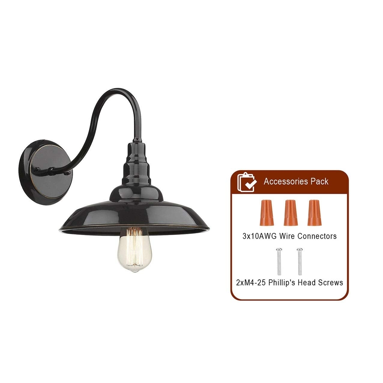 Outdoor Barn 1 Light Farmhouse Gooseneck Light On Sale Overstock 30740079