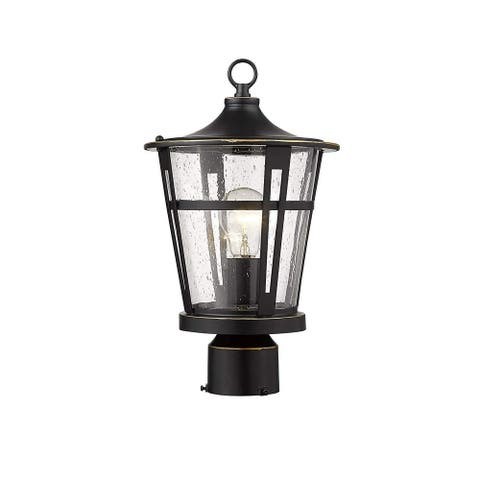 Post Light Fixtures, Exterior 1-Light Pillar Light for Patio, Pathway