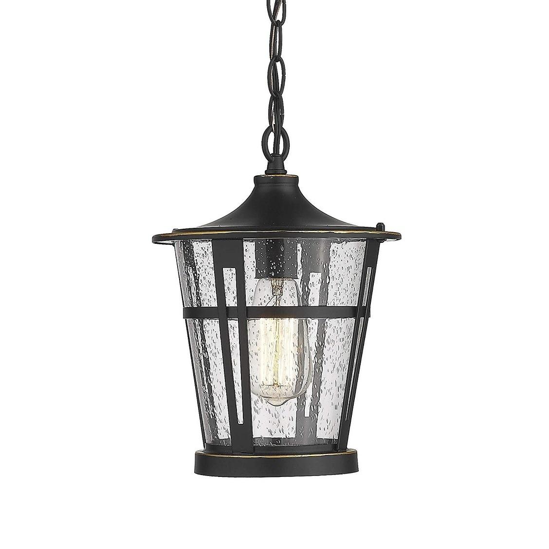 1 Light Outdoor Hanging Lantern Light Fixtures Patio Hanging Light On Sale Overstock 30740268