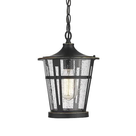 1-Light Outdoor Hanging Lantern Light Fixtures, Patio Hanging Light