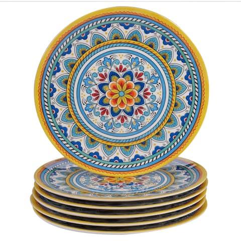 Certified International Portofino 11-inch Melamine Dinner Plates (Set of 6)