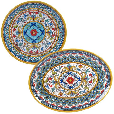 Certified International Portofino 2-piece Melamine Platter Set