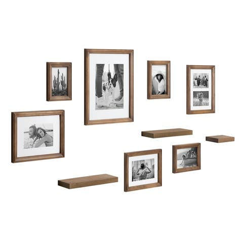 Kate and Laurel Bordeaux Gallery Wall Frame And Shelf Kit