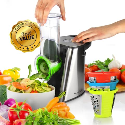Megachef 4-in-1 Stainless Steel Electric Salad Maker