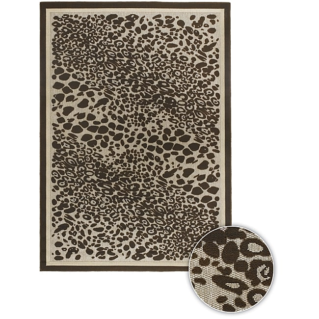 Artist's Loom Indoor/Outdoor Contemporary Animal Print Rug - 3'11 x 6'