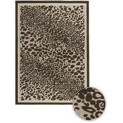 Artist's Loom Indoor/Outdoor Contemporary Animal Print Rug - 3'11 x 6' - Thumbnail 0