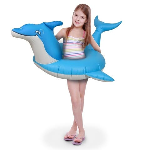 GoFloats Dolphin Jr Pool Float Party Tube, Stylish Floating for Kids