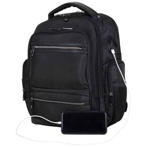 "Heritage Travelware Dual Compartment 17"" Laptop Travel Backpack With USB Port & RFID"