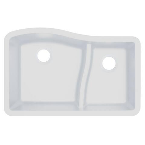 Transolid Aversa SilQ Granite 32-in. Undermount Kitchen Sink