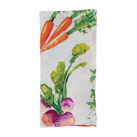 "Table Napkins With Veggies Design (Set of 12) - 20"" x 20"""