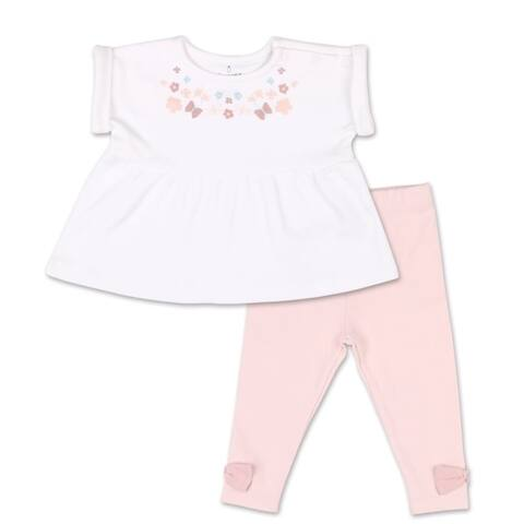 The Peanutshell Tiny Blooms Floral Tunic Shirt and Pant Set-3M