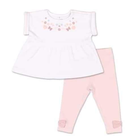The Peanutshell Tiny Blooms Floral Tunic Shirt and Pant Set-9M