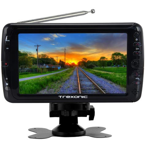 "Trexonic Portable Ultra Lightweight Rechargeable Widescreen 7"" LED TV"