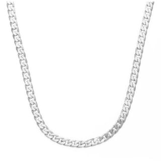 Simon Frank 14k Yellow Gold or Silver Overlay 7mm Cuban Necklace (24-inch)