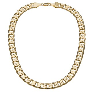 Simon Frank 12mm 14K Yellow Gold Overlay Cuban Necklace (20-inch)