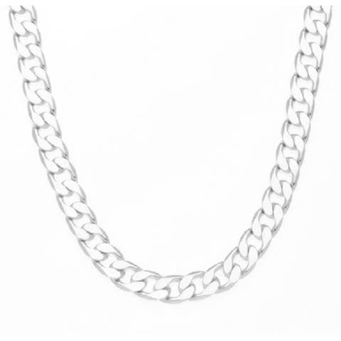 12mm Gold/Silver Overlay Cuban Necklace (24-inch) by Simon Frank Designs