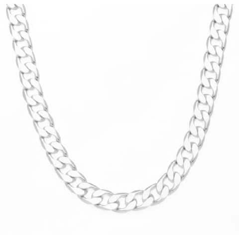 12mm 30-Inch Cuban Link Chain Necklace by Simon Frank Designs