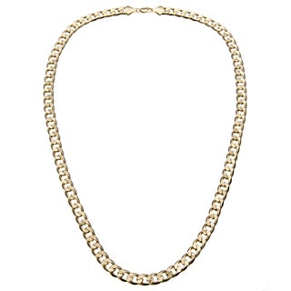 Simon Frank 14k Yellow Gold Overlay 12mm Cuban Necklace (30-inch)