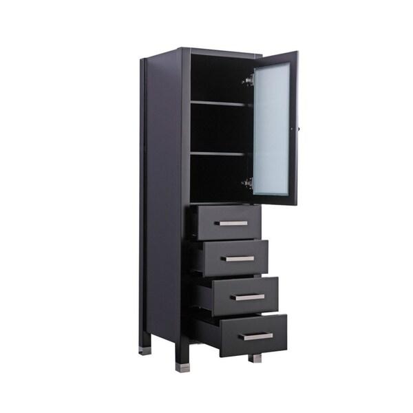 "MTD Vanities Ricca 18"" Modern Bathroom Storage Linen Tower"
