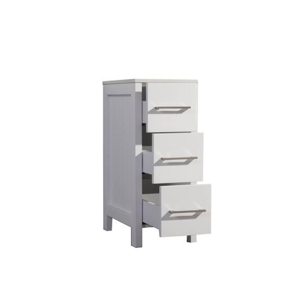 Mtd Vanities Jordan 12 Inch Bathroom Storage Linen Cabinet Overstock 30741895