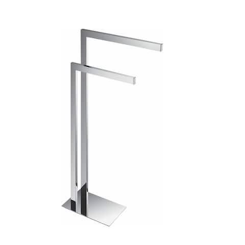 Aqua Piazza Free Standing Towel Rack - Chrome