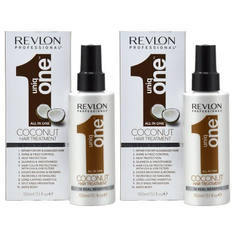 Revlon Uniq One All in One Coconut Hair Treatment 150ml/5.1oz (Pack of 2)