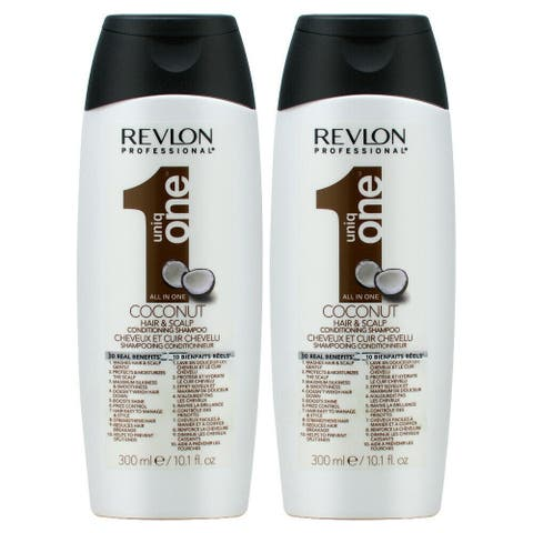 Revlon Uniq One All in One Coconut Hair & Scalp Conditioning Shampoo 300ml/10.1oz (Pack of 2)