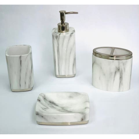 Bianco 4 pcs bath accessories set - multi size