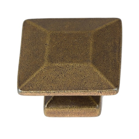 GlideRite 5-Pack 1-3/8 in. Antique Modern Square Cabinet Knobs