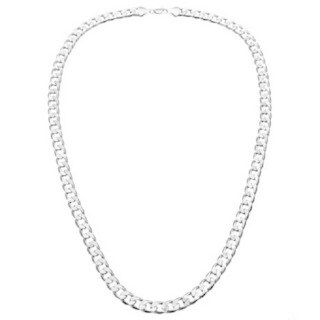 Simon Frank Designs 12mm 14K Silver Overlay Cuban Necklace (24-inch)