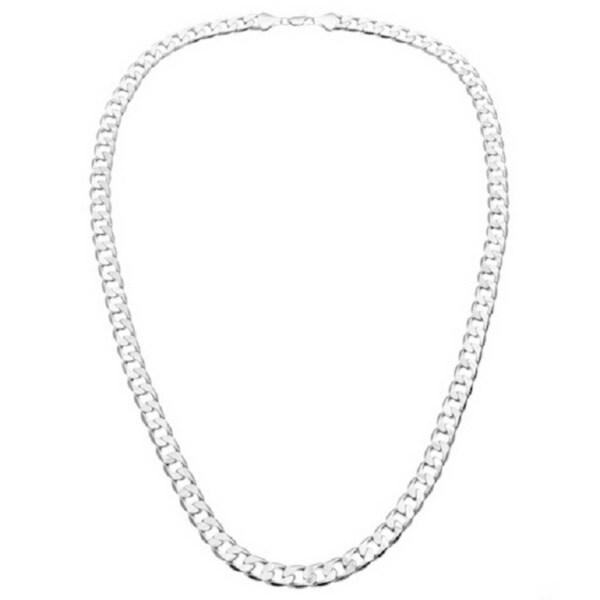 Simon Frank Designs 12mm 14K Silver Overlay Cuban Necklace (24-inch)