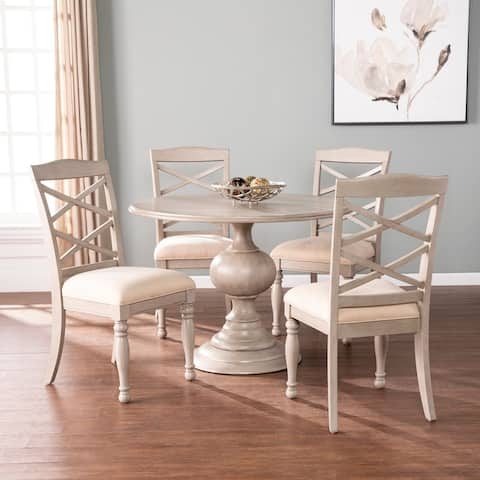 The Gray Barn Brandison Traditional Gray Wood Dining Set (Set of 5)