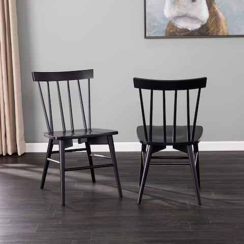 Porch & Den Winbury Traditional Wood Dining Chair Set (Set of 2)
