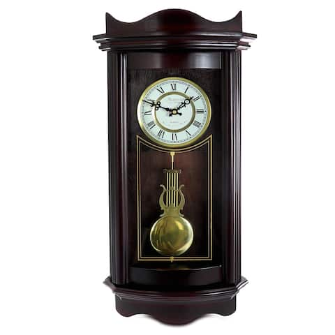 Bedford Clock Collection 25In Wall Clock Chocolate Cherry Finish