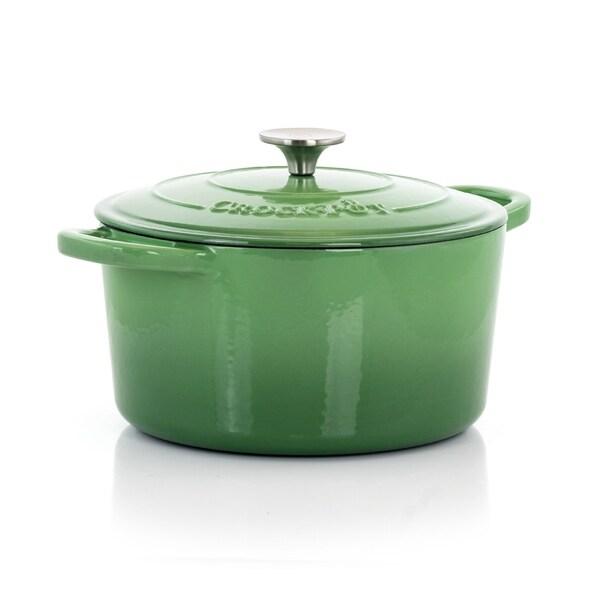 Crock-Pot Artisan 2Pc 5Qt Enamled Cast Iron Dutch Oven Pistachio Green. Opens flyout.