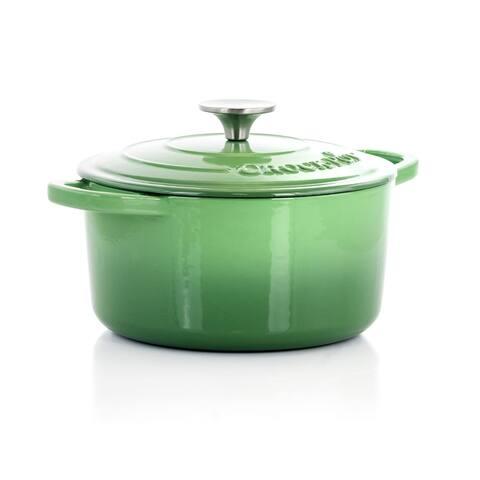 Crock-Pot Artisan 2Pc 3Qt Enamled Cast Iron Dutch Oven Pistachio Green