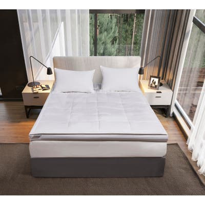 kathy ireland 3-inch White Down Fiber Top Featherbed