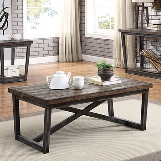Furniture of America Imran Industrial Dark Oak Coffee Table