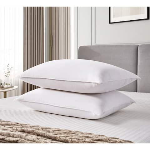 kathy ireland White Goose Feather and Down Fiber Pillow (Set of 2)