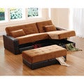 Furniture of America Sectional Sofa Bed/ Love Seat with Chaise