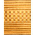 Hand-knotted Blue Vista Wool Rug (9' x 12')
