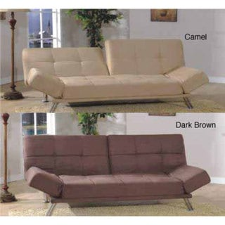 Six-position Micro-suede Sofa Bed/ Loveseat. Opens flyout.