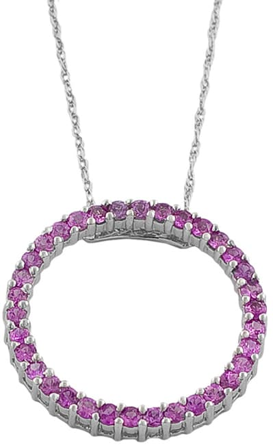 Shop fremada 14k white gold pink sapphire circle necklace on sale fremada 14k white gold pink sapphire circle necklace mozeypictures Image collections