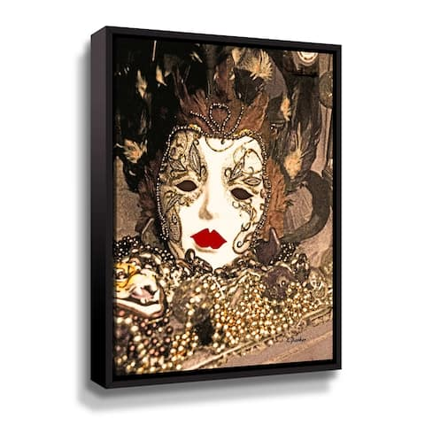 ArtWall Venice Mask 3 Gallery Wrapped Floater-framed Canvas by Linda Parker