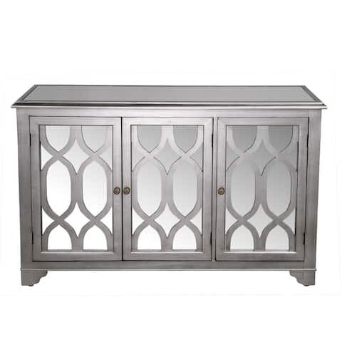 Hannah Wooden Buffet with 3 Doors & Shelf