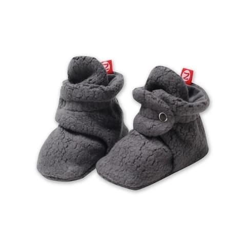 Zutano Gray Cozie Fleece Booties 18M Baby Socks