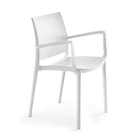 P'kolino Luna Modern Desk/Dining Chair w/ Arms - White