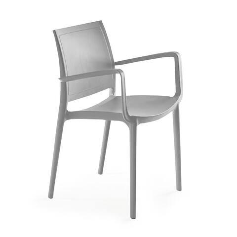 P'kolino Luna Modern Desk/Dining Chair w/ Arms - Grey