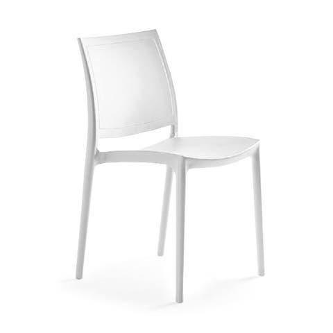 P'kolino Luna Modern Desk/Dining Chair - White
